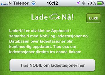 LadeNå! NOBIL