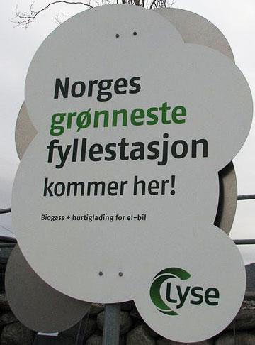 Grønn fyllestasjon