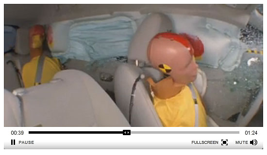 Nissan LEAF chrash test dummies
