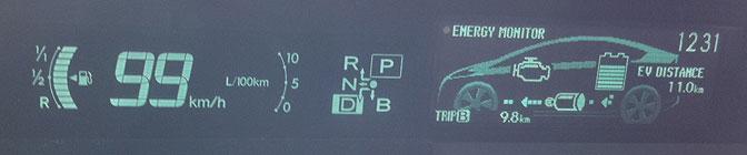 Toyota Prius PHV display