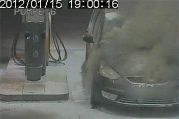 Brann bensinstasjon