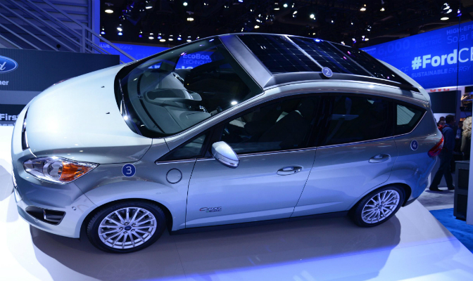 Ford C-Max med solcellepanel