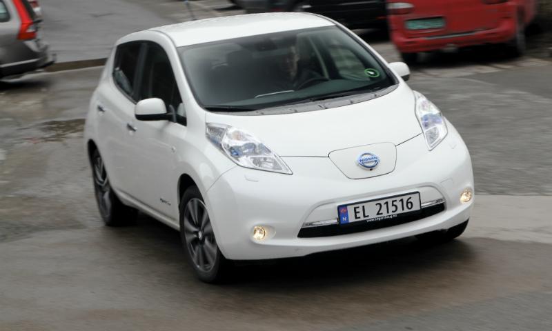 Nissan LEAF er landets mest vanlige elbil