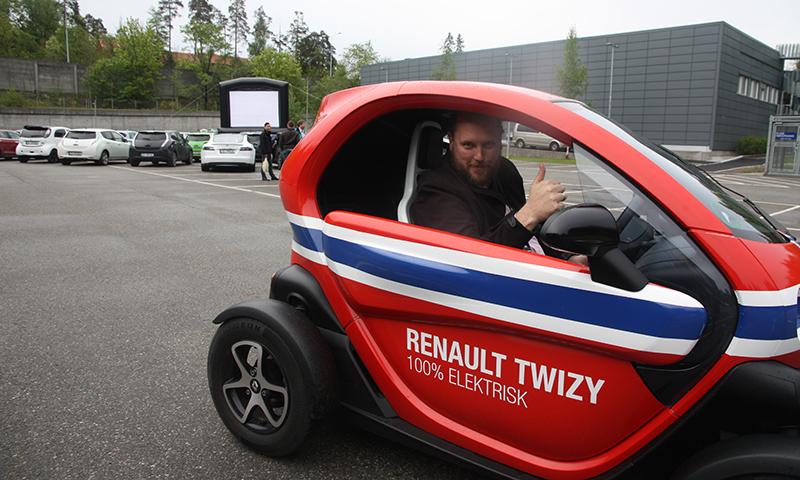 Verdens største elbil drive-in-kino