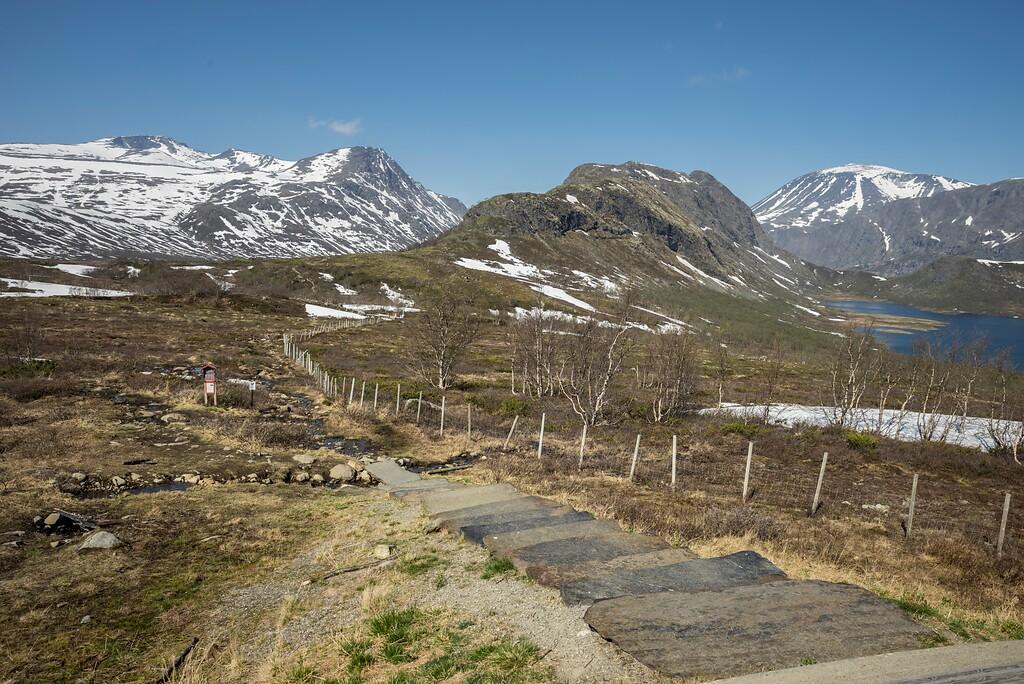 Stien mot fjellområdene sør for Gjende Foto:Jarle Wæhler / Statens vegvesen