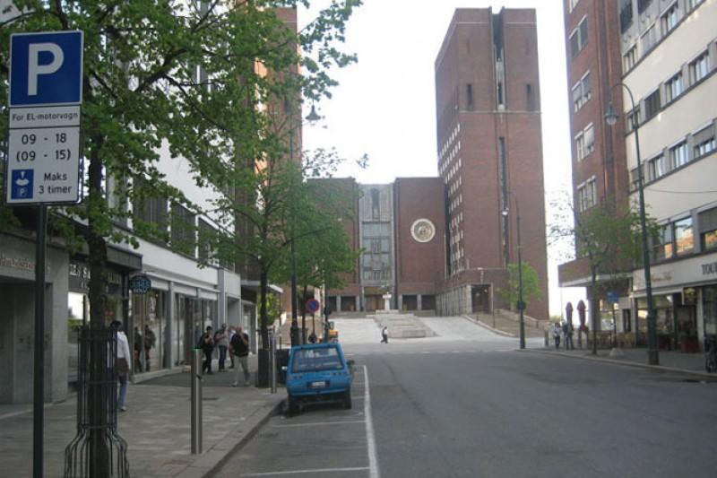 Ny ladestasjon ved Rådhuset i Oslo