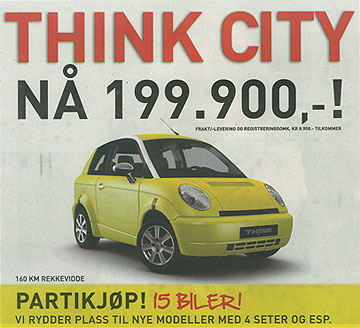 Think City 199.900 kr
