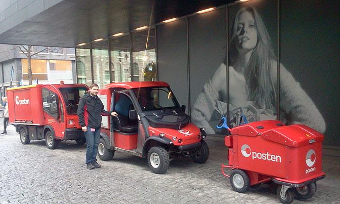 Postens elektriske kjøretøy