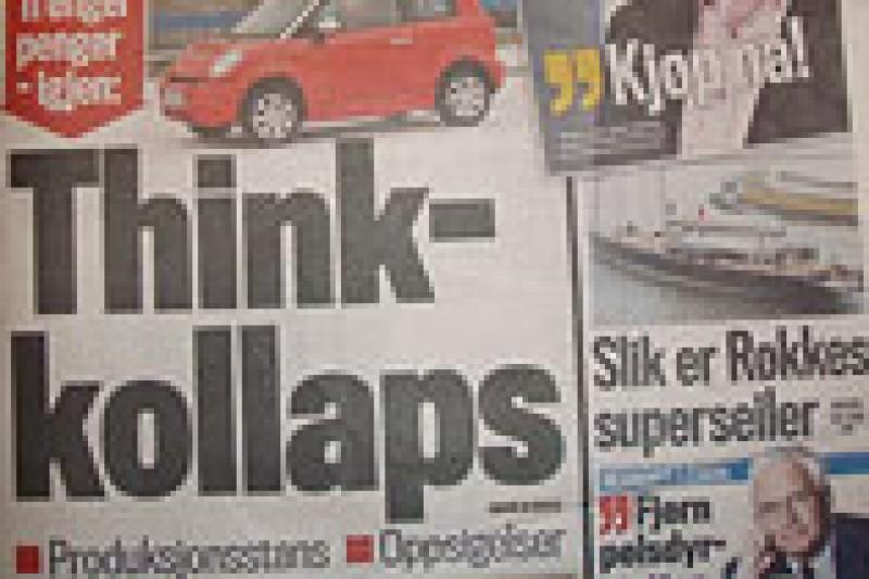 Elbilselskapet Think i trøbbel