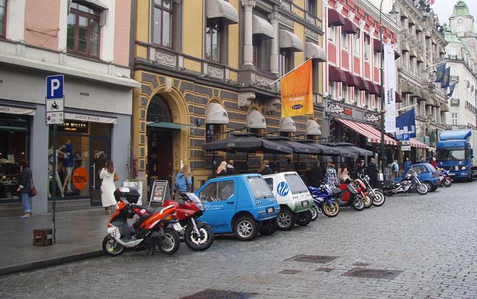 MC-parkering Karl Johan