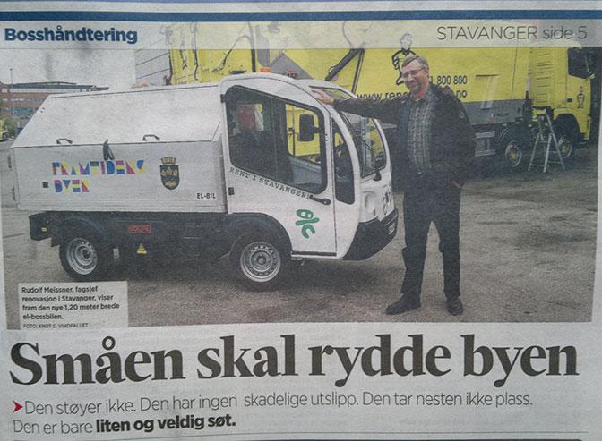 Stavangers elektriske søppelbil