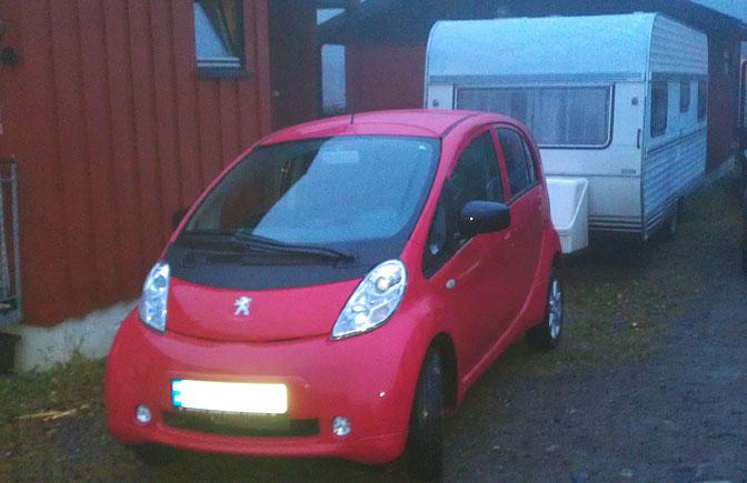 Peugeot iOn campingvogn