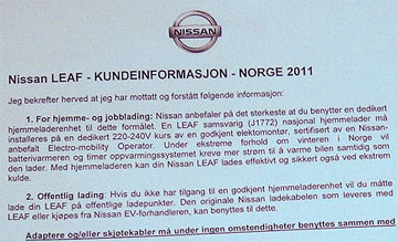 Nissan kundeinfo