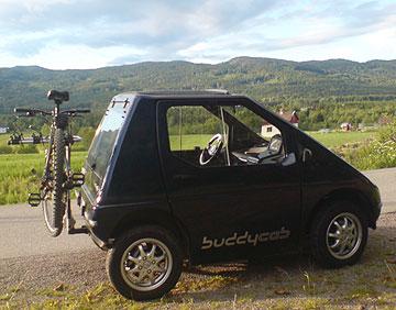 Buddy med sykkel