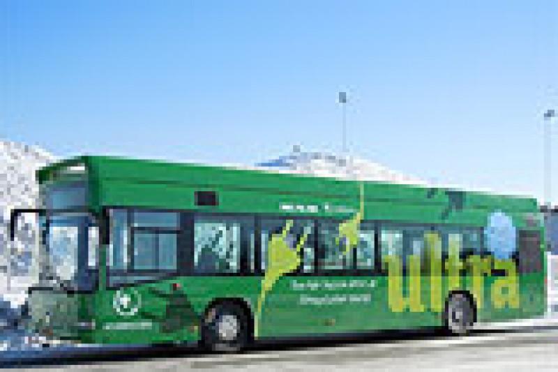Hurtigladet el-buss i Umeå
