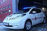 Nissan LEAF brannbil