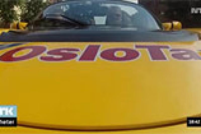 Ta taxi med elbilen Tesla i Oslo