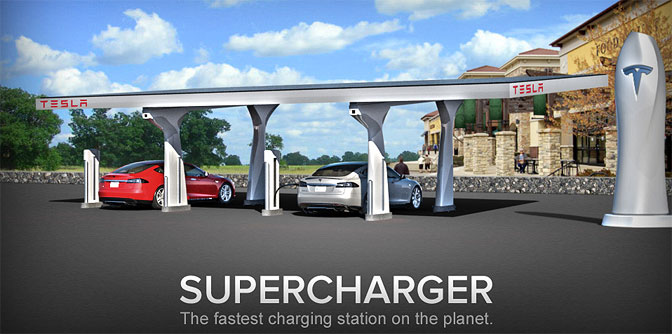 Teslas superlader