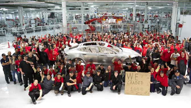 Tesla Model S no 1000