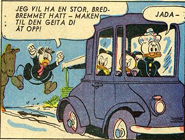 Bestemor Duck slik hun fremsto for norske Donald-lesere i 1960