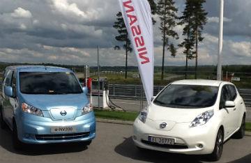 Nissan e-NV200 og nye Nissan LEAF