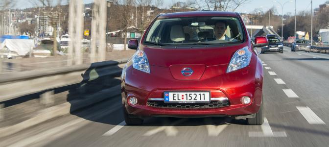Nissan LEAF i kollektivfeltet