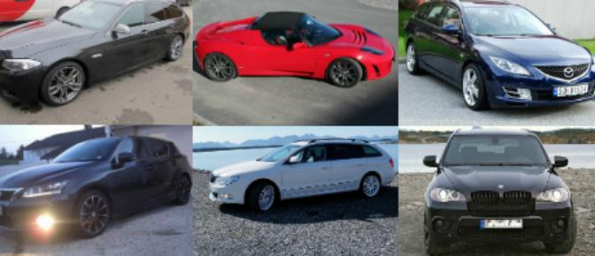 Dette er noen av bilene Model S-kjøperne selger eller har solgt (Faksimile finn.no)