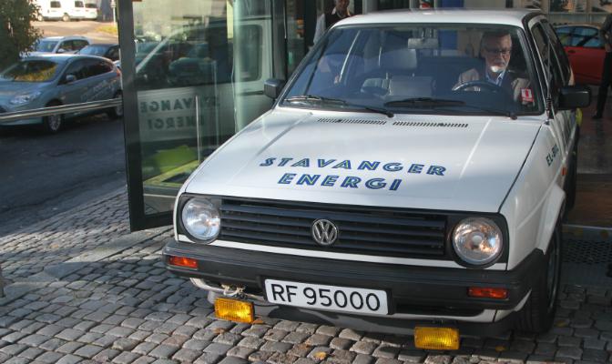 VW Golf Citystromer som tidligere tilhørte Stavanger Energi