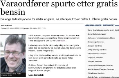 Faksimile fra Aftenbladet.no