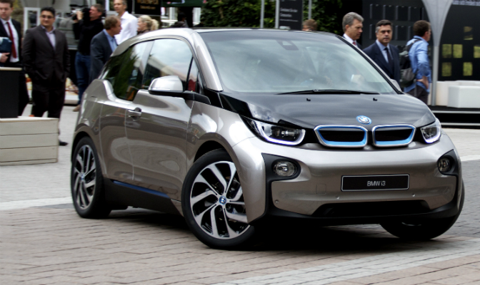BMW i3, som kommer på markedet i disse dager, tok en sterk andreplass.