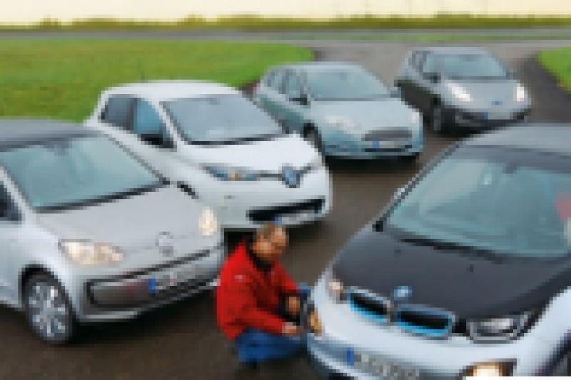 Har sammenlignet fem kompakte elbiler