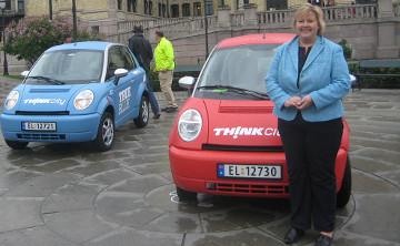 Erna Solberg og elbiler