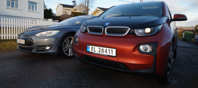 BMW i3 møter Tesla Model S