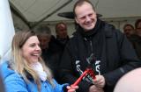 Statsråd Ketil Solvik-Olsen og Saltos Hedda Heyerdahl Braathen