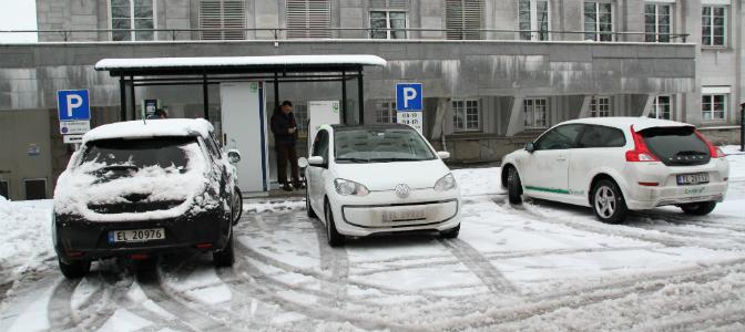 Fortums hurtigladestasjon i Sandvika