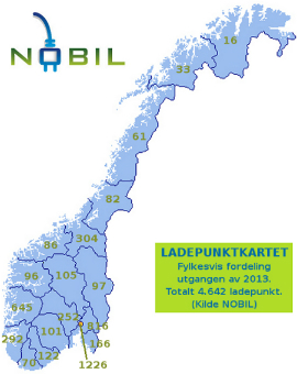 Det norske ladekartet