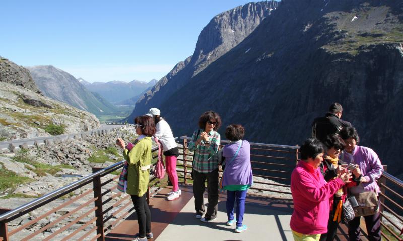Utsikt fra toppen av Trollstigen
