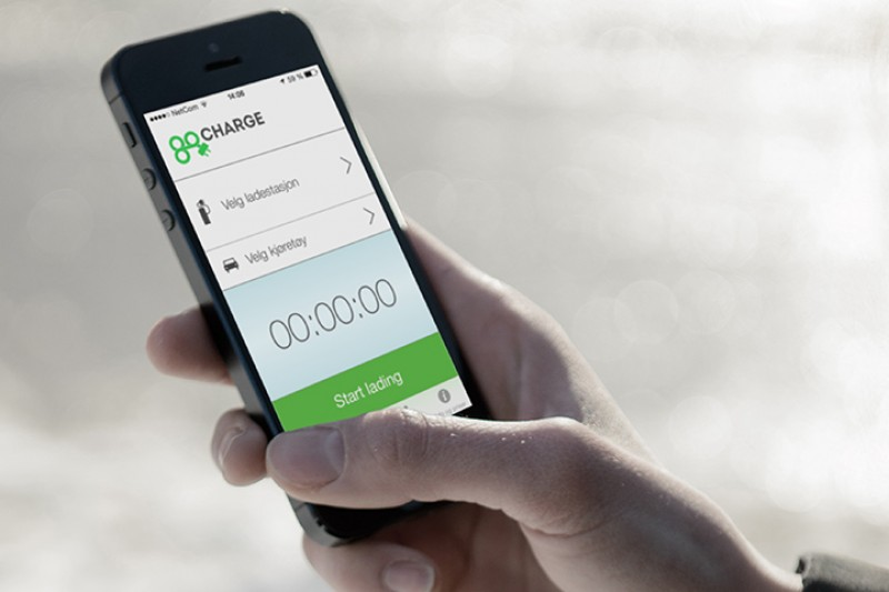 Betal for lading med mobilen