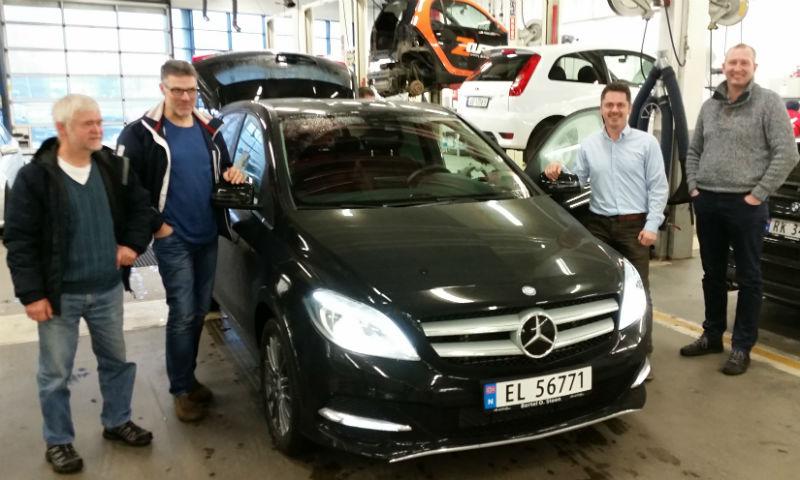 Prøvekjøring av Mercedes-Benz B-Klasse Electric Drive