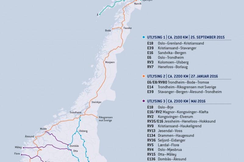 Hurtiglading helt til Tromsø