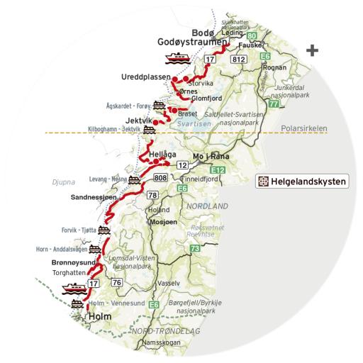 Kart elbil Helgeland