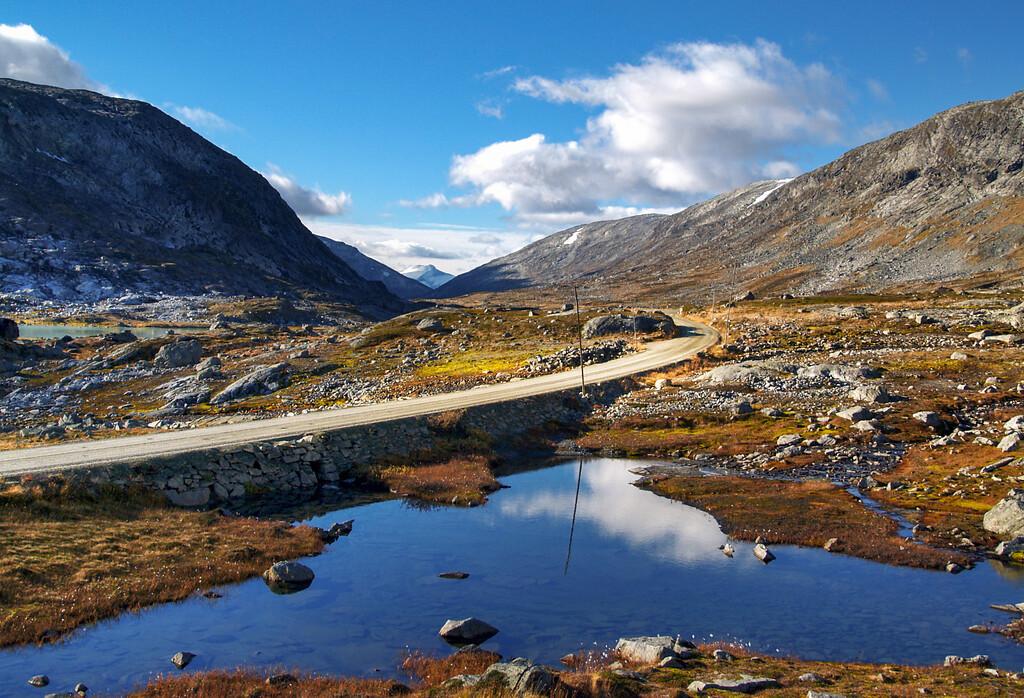 Gamle Strynefjellsvegen gjennom høyfjellet