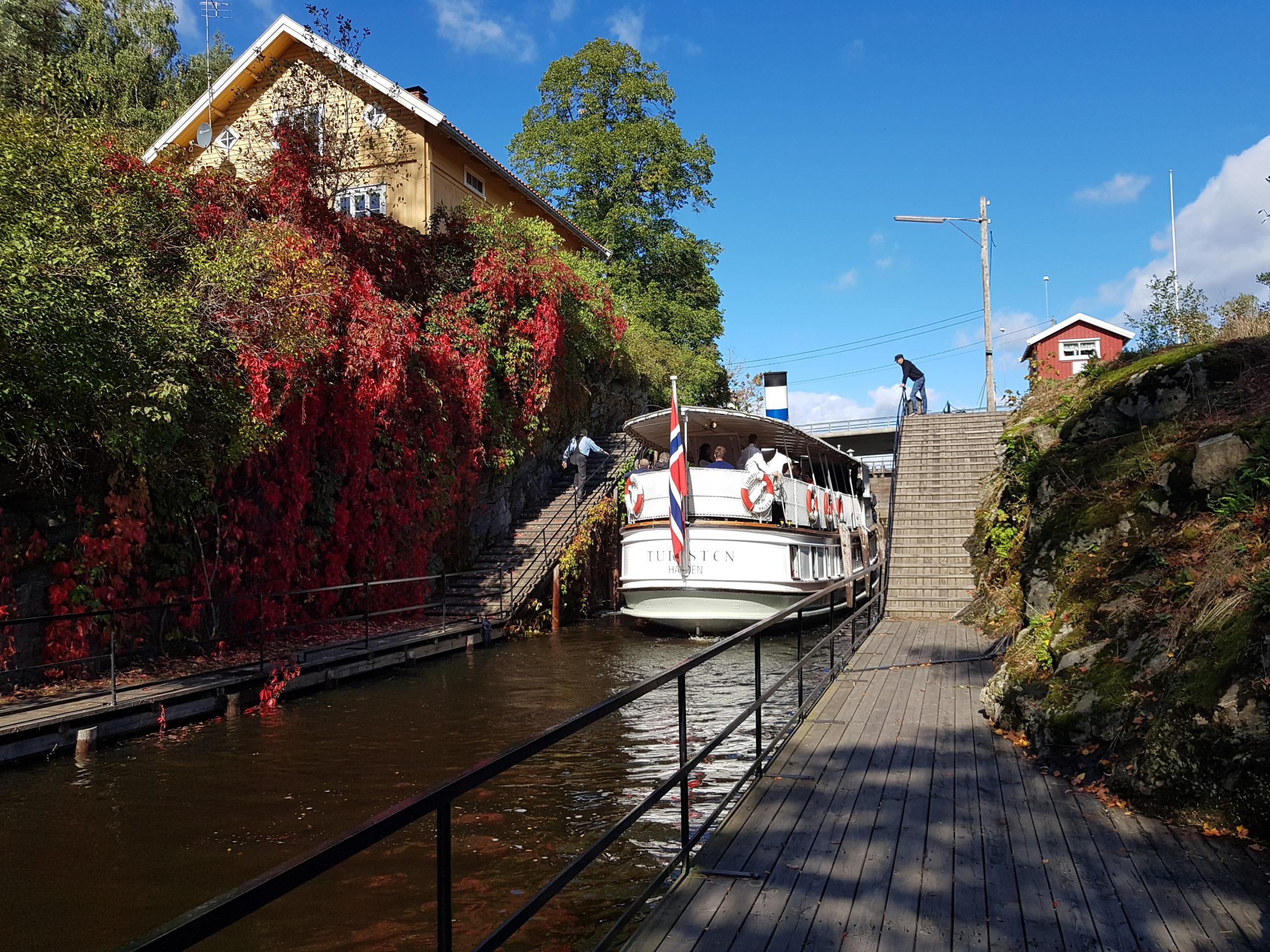 Elbilferie Brekke sluser i Østfold